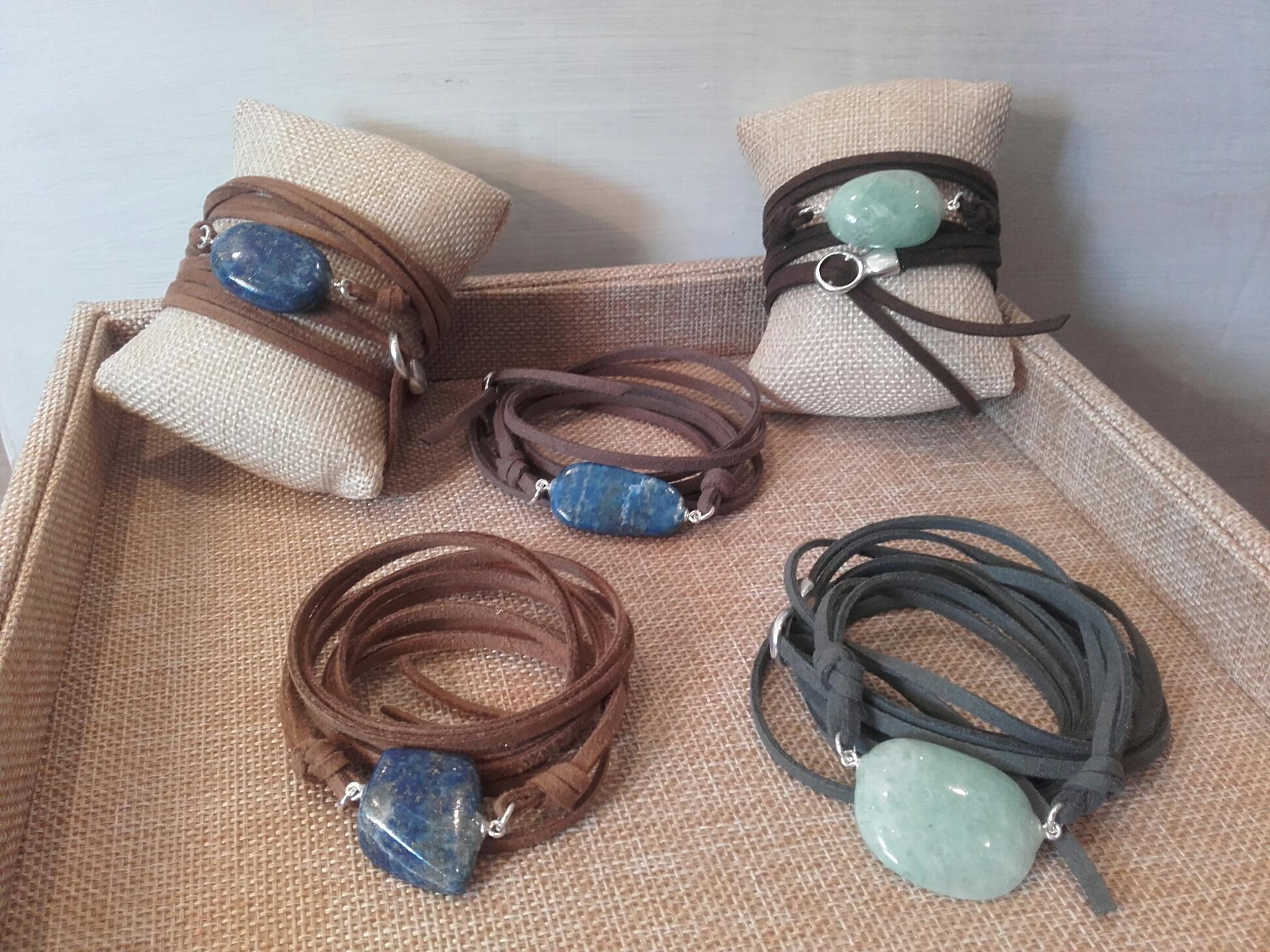 Manchettes modulables pierres taillées